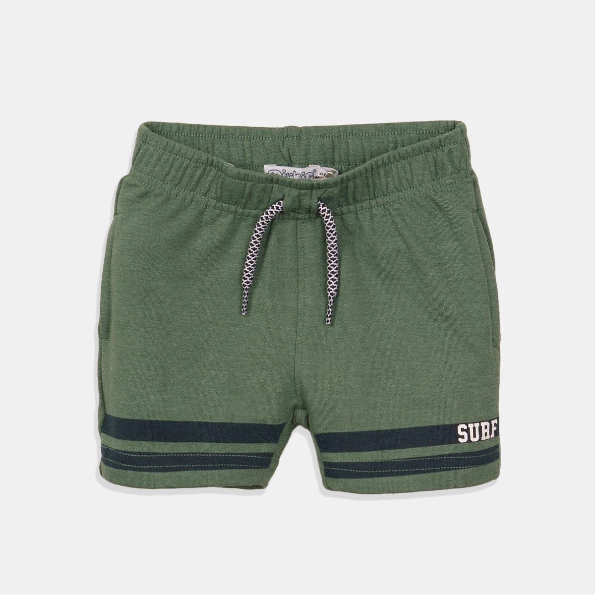 Къси панталони в маслено зелен цвят