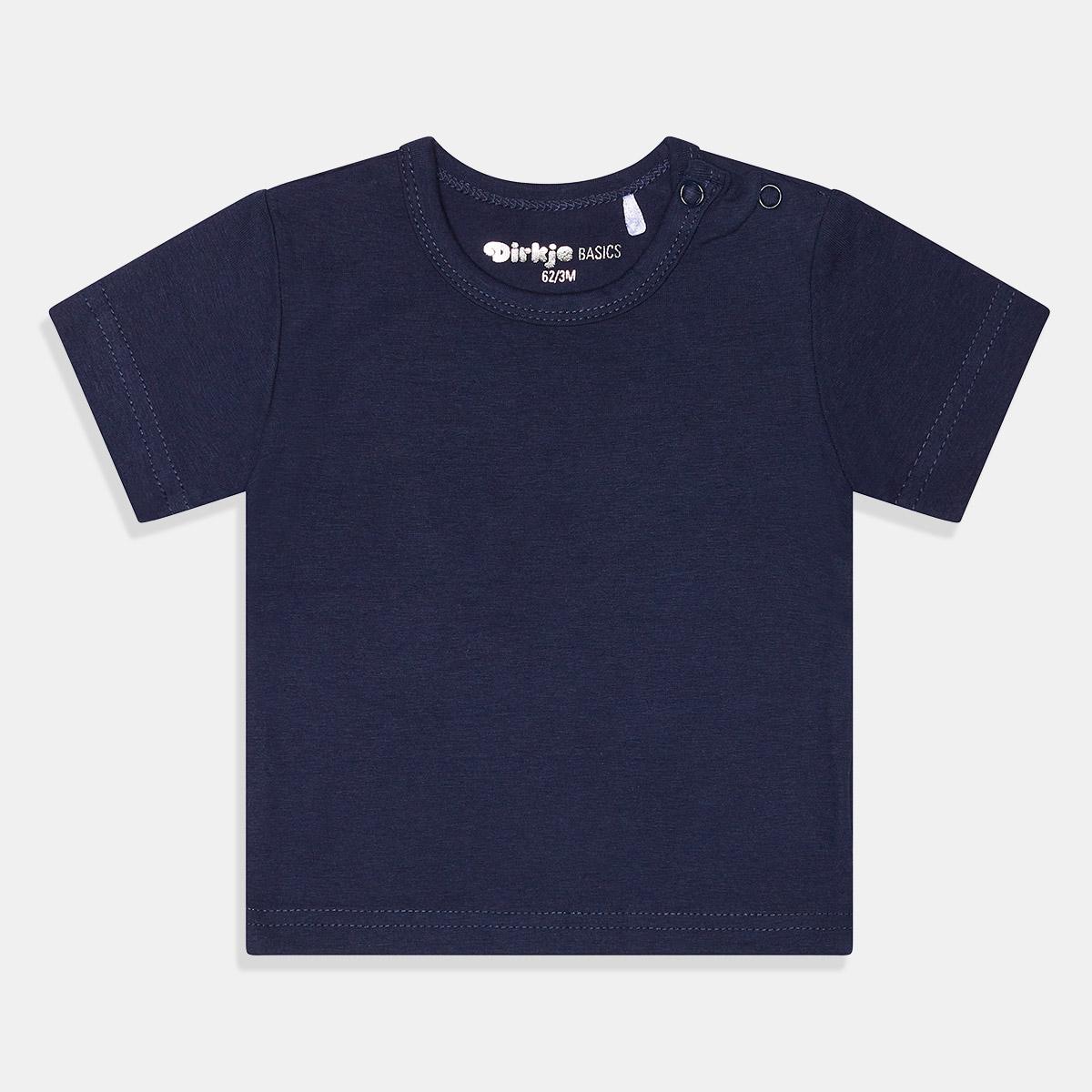 Тениска едноцветна синя Dirkje